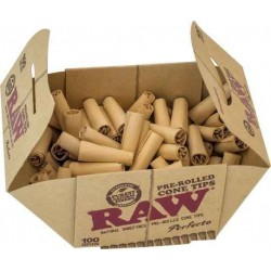 RAW Pre-Rolled Cone Tips - 100 stk pr. Pakke