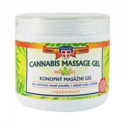 CANNABIS Massage Gel 5% Cannabis Oil 600ml - PALICIO Herbal Cosmetics