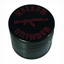 Ø40mm Killer Grinder - 4 Delt - Sort Metal