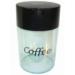 0,8 L Coffee gennemsigtig med sort top - Vakuum container - Coffeevac