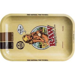 RAW Girl XL Metal Rolling Tray - 34 x 27,5 cm