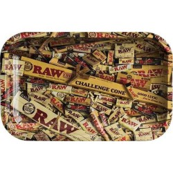 RAW Mixed XL Metal Rolling Tray - 34 x 27,5 cm
