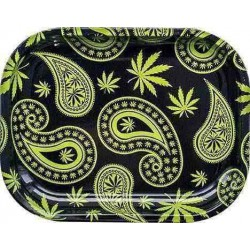 Paisley Weed - Bord Rulle-Bakke, Lille 18x14cm (Rolling Tray)