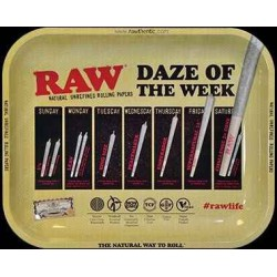 RAW Daze Metal Rolling Tray - Large 34 x 27,5 cm