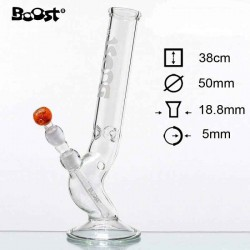 Boost Bolt Glas Bong Is H:38cm Ø:50mm SG:18.8mm T:5mm