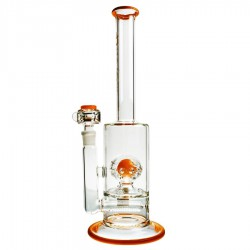Solaris Inline Bubbler Orange - Pure Glass