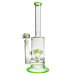 Solaris Inline Bubbler Grøn - Pure Glass