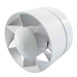 Ø125mm Axial fan - 185m3/h - Step Connection