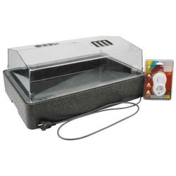 Propagator, heated, with ventilation flaps and cover