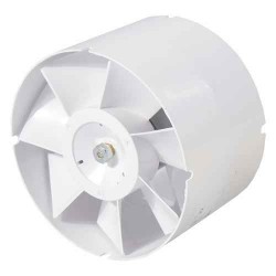 Ø150mm Axial fan - 298m3/h - Straight connection