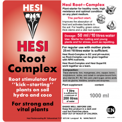 HESI Root Complex, 0.5 L til 100 L water