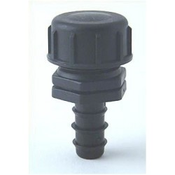 "PE-End Plug 16 mm ¾ ""(Ext.Thread) med endedæksel PE ¾"" (Int.Thr"