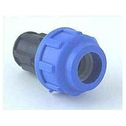 End stop for 16 mm PE tube, bolted