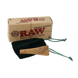 RAW Wooden Double Barrel Cig Holder K.S.
