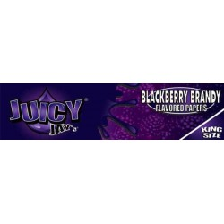 Backberry Brandy Juicy Jay's - King Size Slim Paper med smag