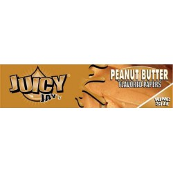 Peanut Butter Juicy Jay's - King Size Slim Paper med smag