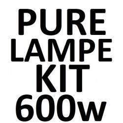 600 W PURE Lampe KIT incl. kabel & ophæng